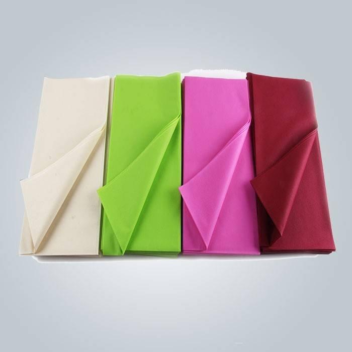 قبل قطع 45gsm مختلف الألوان ثنت يمكن التخلص منها غطاء الطاولة مع 25 مترا