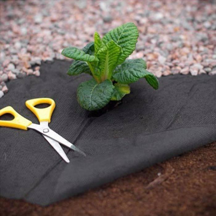 Jardín negro Malla antihierba para MaintainTemperature en beneficio de un crecimiento saludable