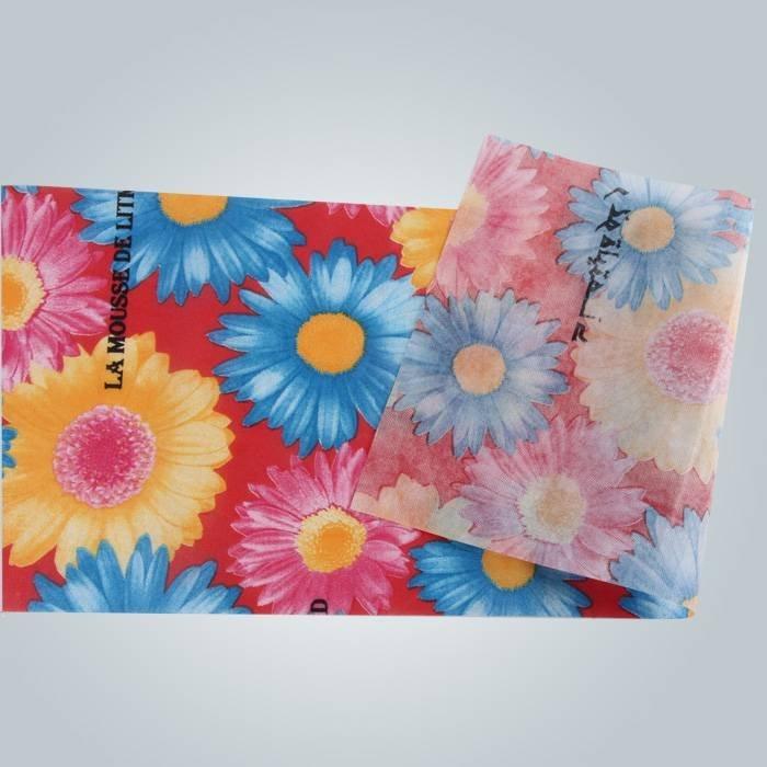 100% पीपी Spunbond 75gsm पूर्ण रंग मुद्रण के साथ शॉपिंग बैग के लिए गैर बुना कपड़ा