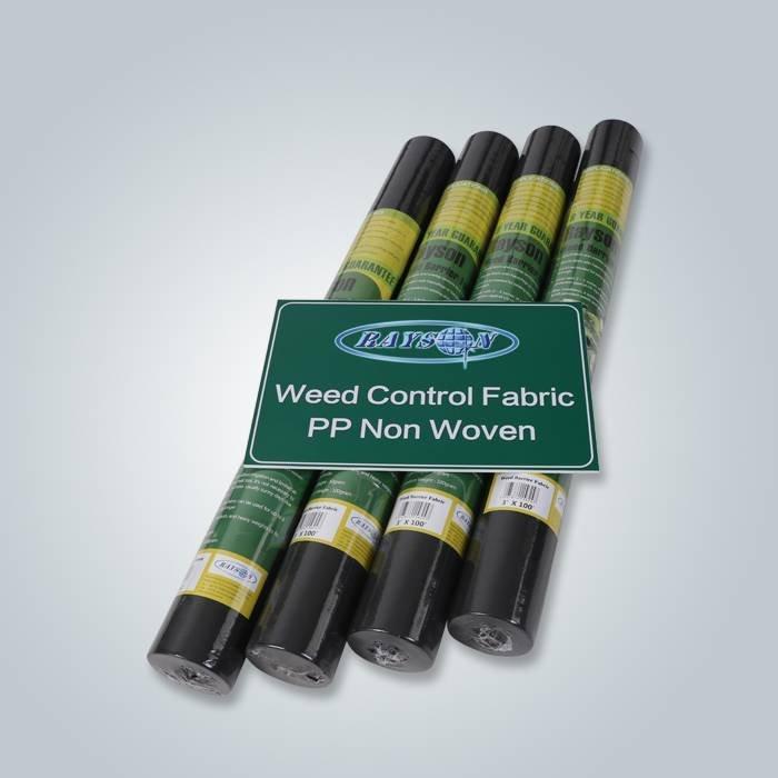 Tissu couleur noire weed control paysage eau hydrophile pemeability