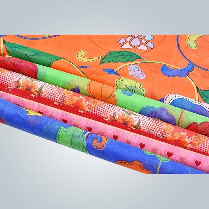 types de tissu imprimé de non tissé polypropylène utilisé en couvre-matelas