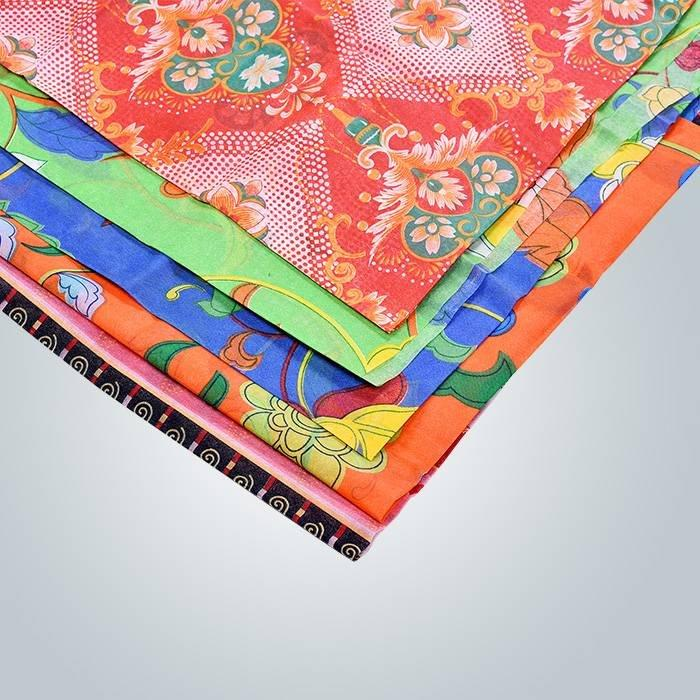 Colorful non woven printing for furniture upholstery material