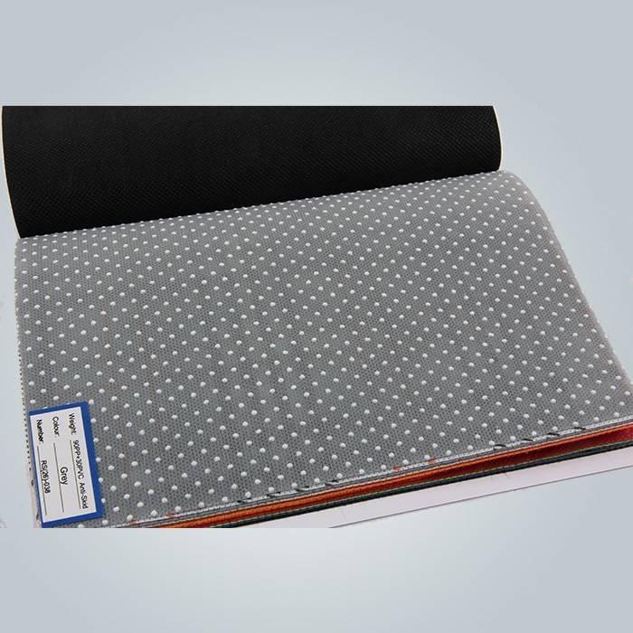 point de pvc noir 150 grammes anti non tissée de glissement pour couvre-matelas