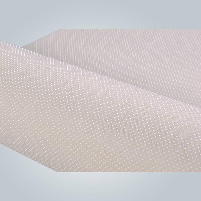 Tela del colchón forro antideslizante spunbond no tejido recubierto de PVC