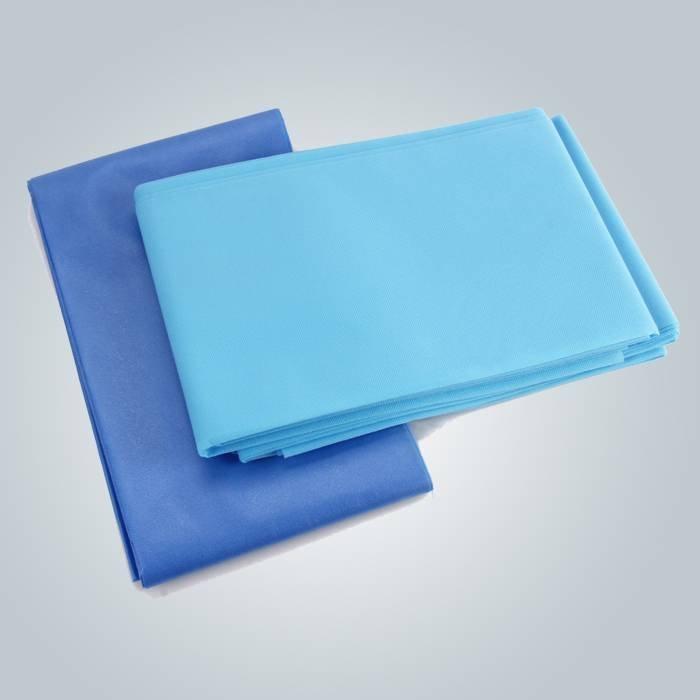 La sábana azul desechables por mayor de hojas para masaje