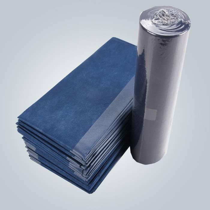 Lenzuolo laminato in polipropilene e polietilene con controllo fluido per uso igienico