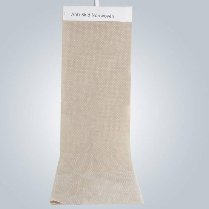 PVC पीवीसी बिंदीदार विरोधी पर्ची कपड़ा Nonwoven विरोधी स्किड कपड़ा उपयोग में चप्पल