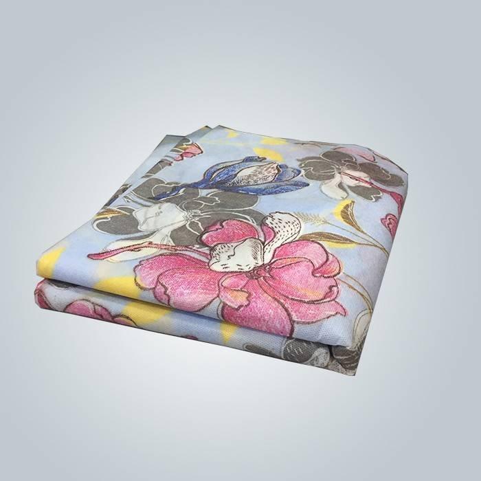 Toalha de mesa não tecida impressa personalizada com padrão floral