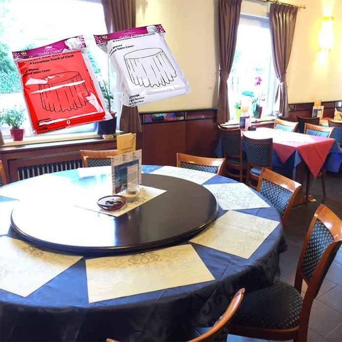 Design elegante, redondo tampa da mesa em não tecido para festa