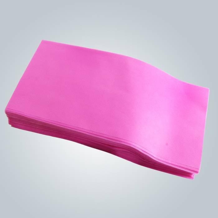 Drap jetable de couverture de divan de couleur rose en morceaux pour le spa