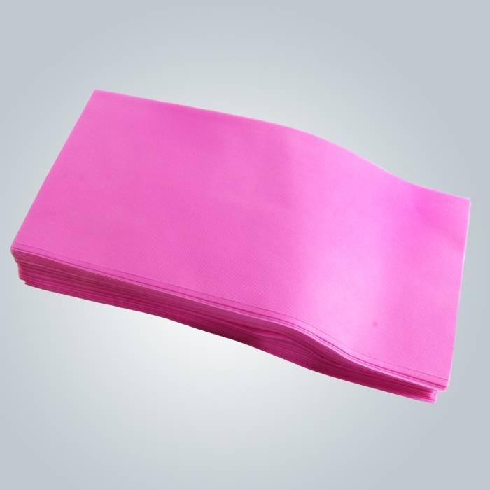 Sábana de sofá color rosa disponible cubre sábanas en piezas para Spa