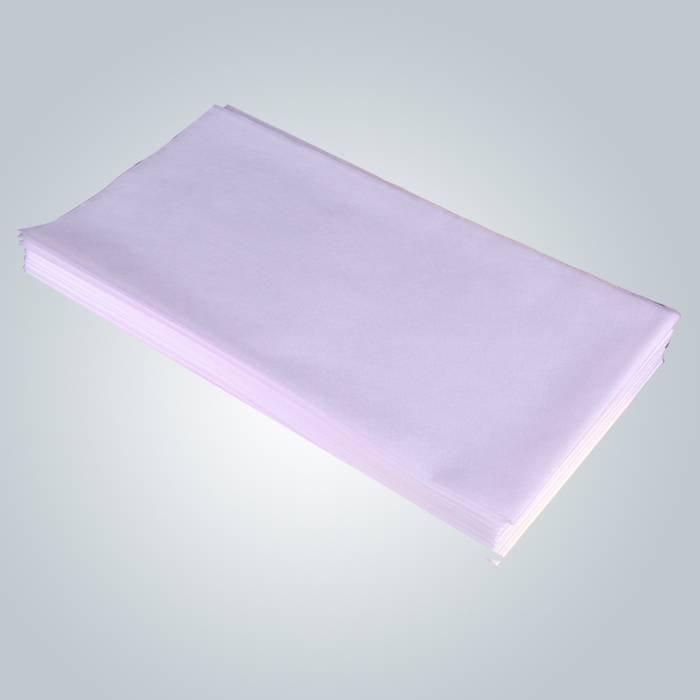Feuille non-tissée jetable de Tableau de massage d'examen de polypropylène blanc 75 x 180 cm