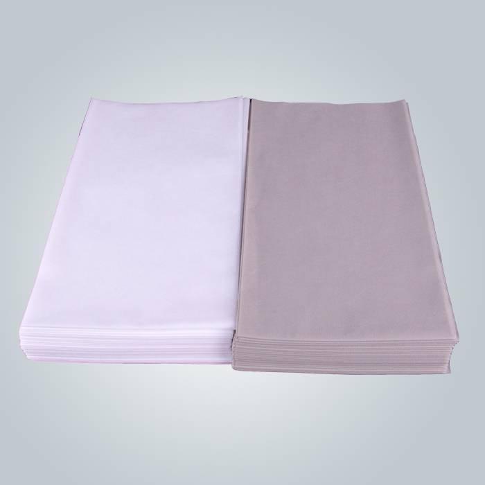 Medizinische Behandlungs-Wegwerfbettlaken-weiße und graue Farbe Vlies-flaches Bettlaken