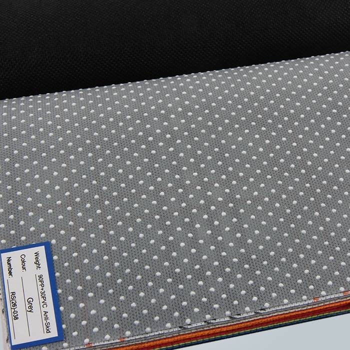 Slipper PVC Dotted Anti Slip Non Woven Non Slip Fabric