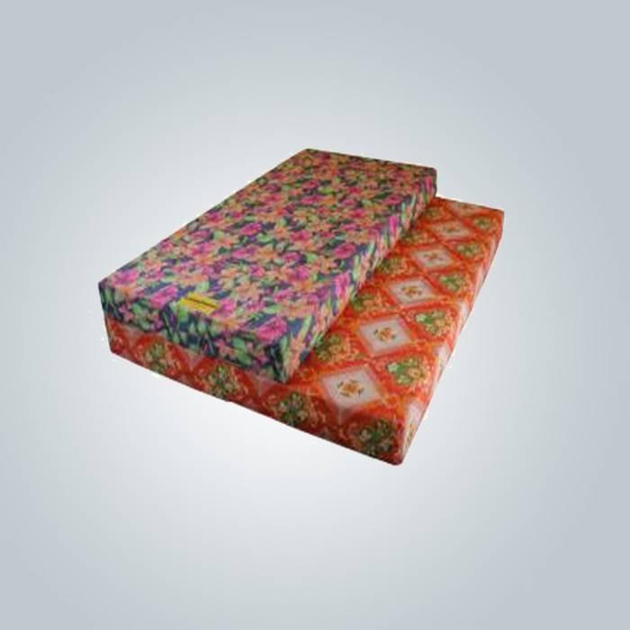 80 g imprimé tissu non-tissé pour couvre-matelas mousse