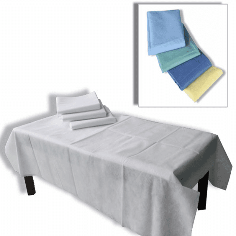 위생적이고 방수 처리가되지 않은 의료용 침대 시트
