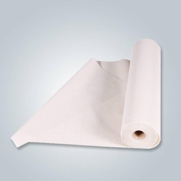 Tissu non tissé anti-dérapant avec des points de PVC pour le fond de sofa