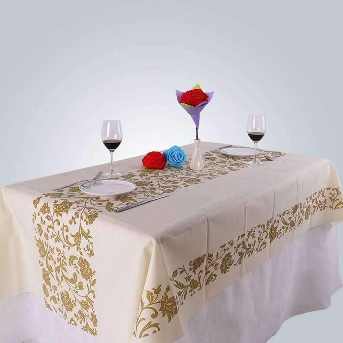 غير المنسوجة مفرش المائدة مع أنماط الطباعة شخصية