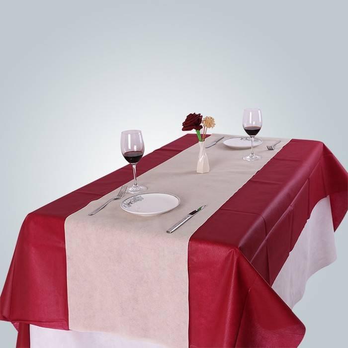 फाड़ना के साथ स्वच्छता गैर बुना टेबल क्लॉथ