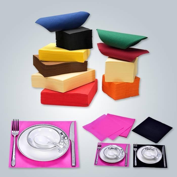 Tamanho e forma diferentes para pano de mesa não tecido
