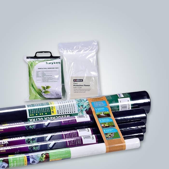 Biodégradable 100% PP matière première Spunbond non tissé 50Gram