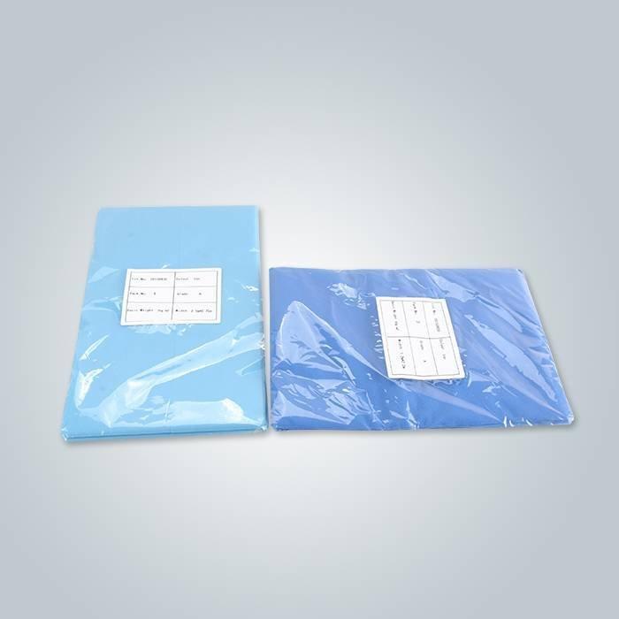 Lenzuolo non tessuto in confezione singola per uso medico