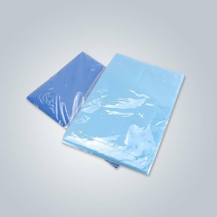 Light blue non woven spa bedsheet