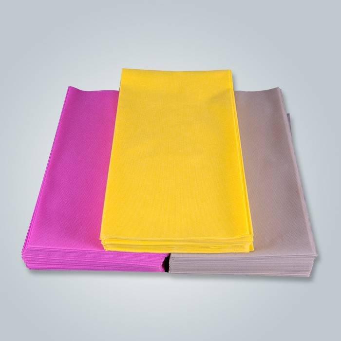 पीला गैर बुना टेबल कपड़ा