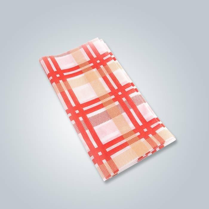 Roupa ao vivo de roupas de tecido dobradas em tecido de tecido não tecido de polipropileno impresso
