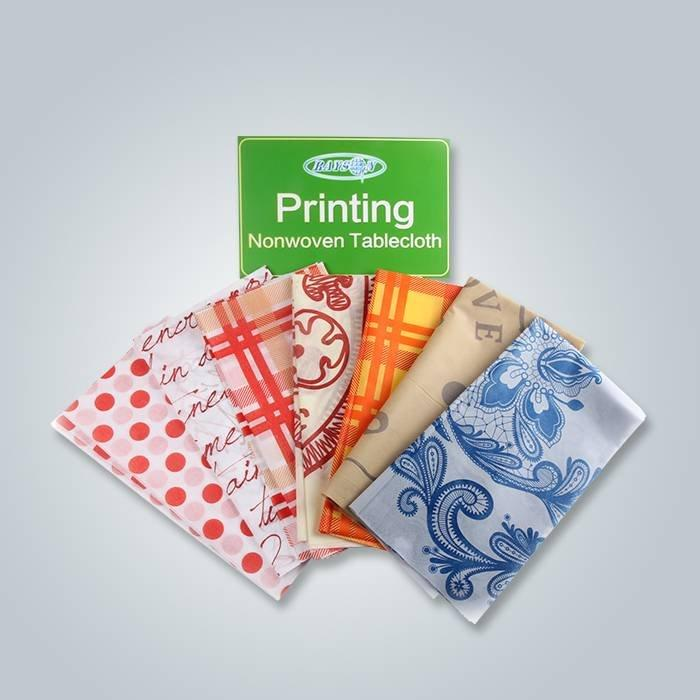 Quadrato stampato Tovaglia spun-bonded Fabirc, Eco polipropilene Spunbond