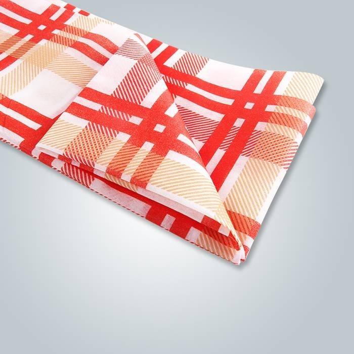 Roupa de mesa de casamento Spunbond Tartan Printed Table Cloth