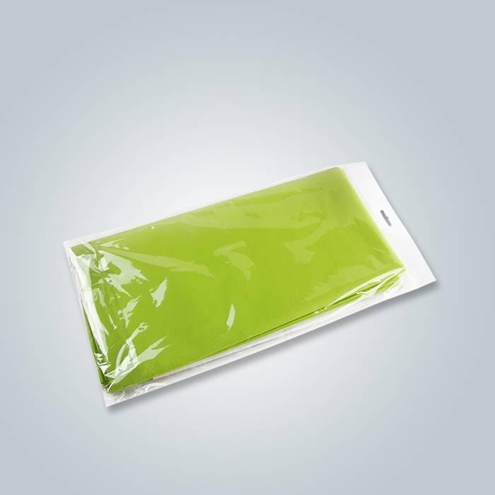 Tovaglia specifica dell'imballaggio di colore verde non tessuto di Spunbond per vendita al dettaglio