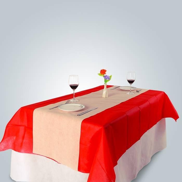 100% पॉलिस्टर सफेद होटल टेबल कपड़ा और कुर्सी कवर