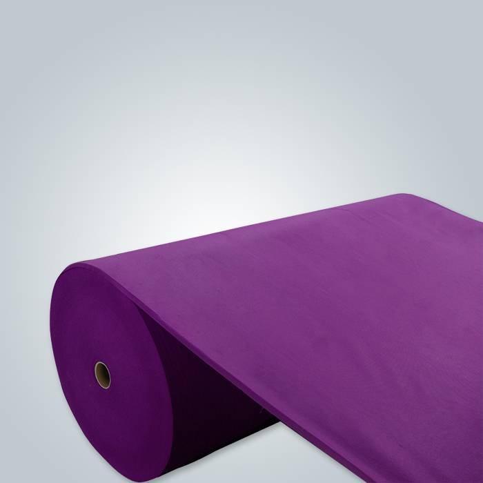 Material de embalaje no tejido púrpura de la tela del spunbond