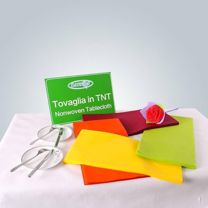 Coberturas de mesa em tecido não tecido para o mercado europeu