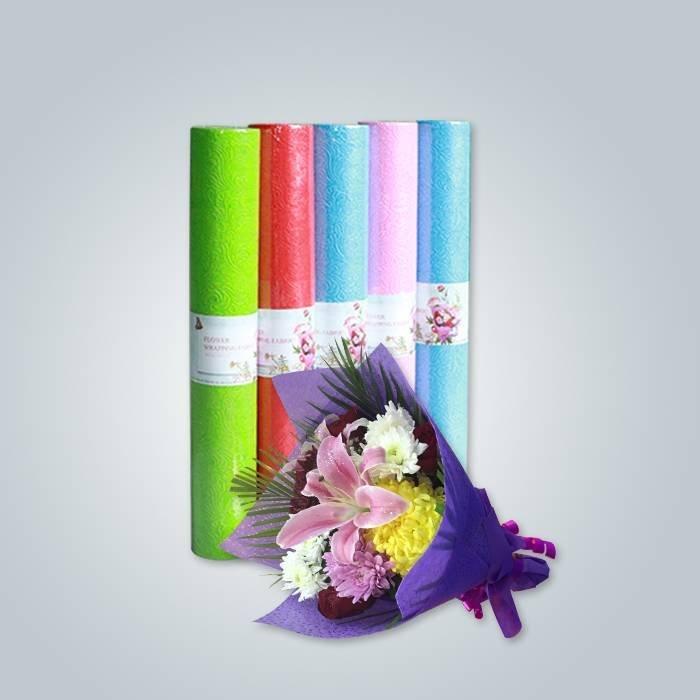 花を梱包するための環境にやさしい多色不織布