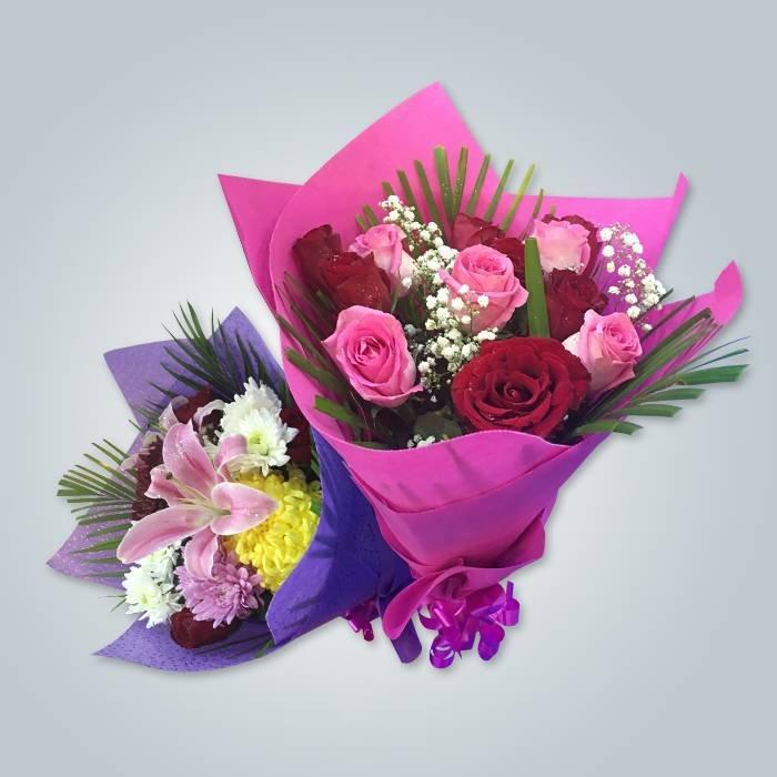 새로운 판매 꽃 포장 다채로운 짠된 포장 패브릭