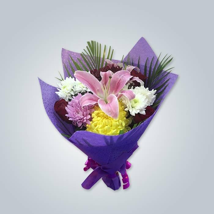 중국 높은 품질 PP Spunbond 짠 신선한 꽃 포장 패브릭