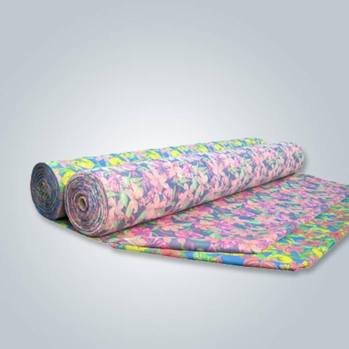 المصنع مباشرة توفير المنسوجات المنزلية سبونبوند محبوكة المطبوعة لفة