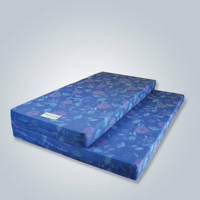 Estampado azul tela no tejida