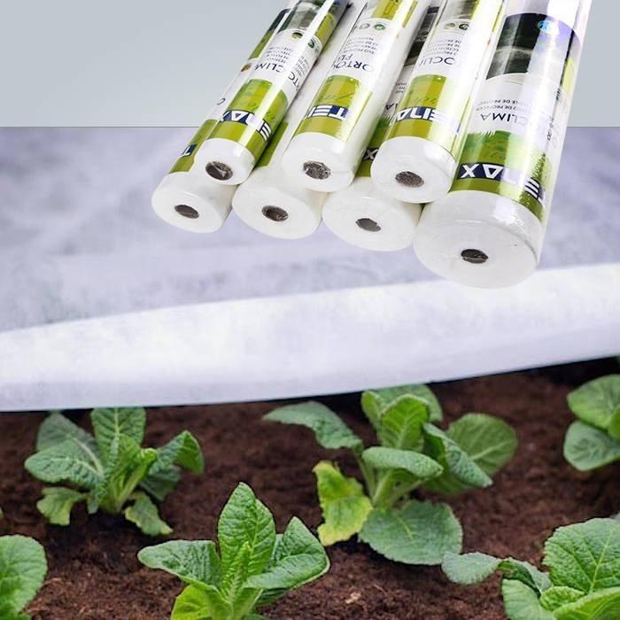 Protection de givre en polaire de jardin blanc