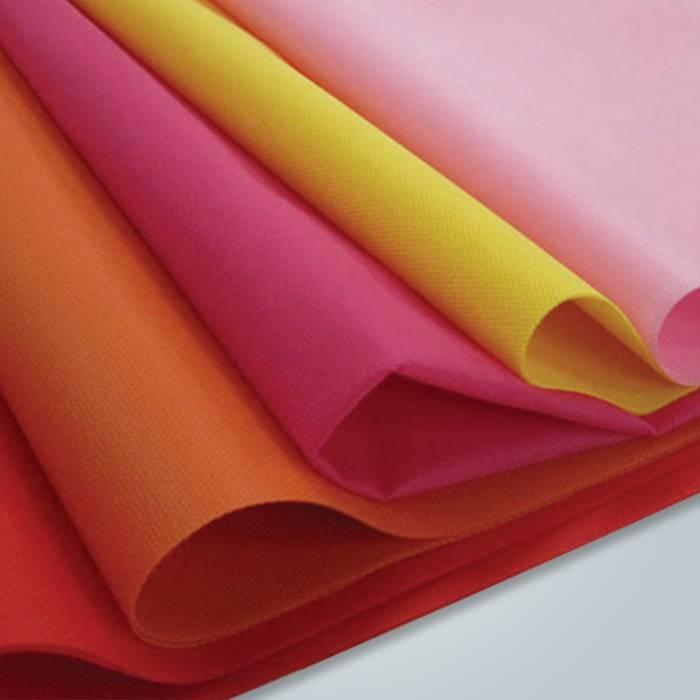 Tela no tejida de alta calidad respetuosa del medio ambiente 100% PP spunbond para la materia textil casera