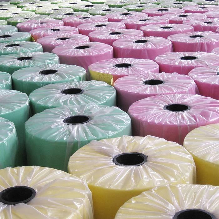 muchos colores pp spunbond tela no tejida