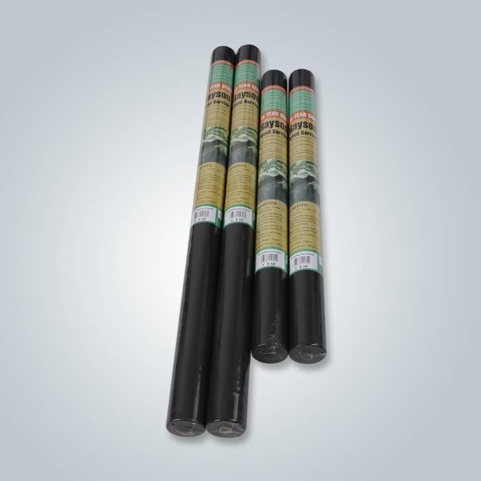 Tecido de paisagem não tecido preto de 4 rolos
