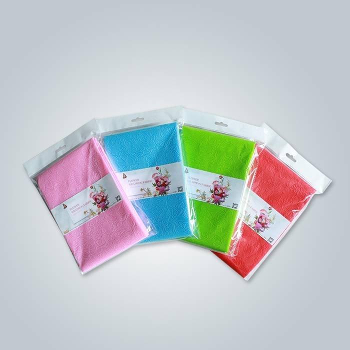 Tissu d'emballage de fleurs avec motif en relief