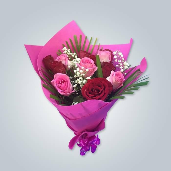 꽃 무늬 비 직조 포장지