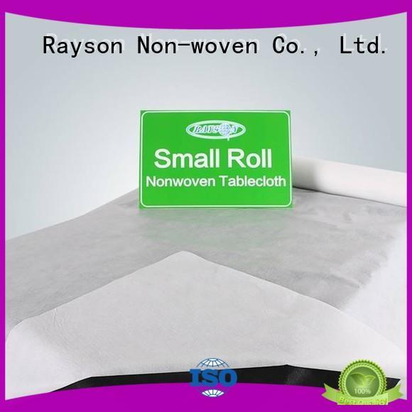 non woven cloth spundonded room efficient rayson nonwoven,ruixin,enviro Brand non woven tablecloth