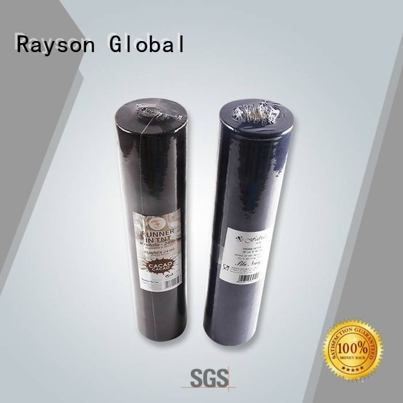 rayson nonwoven,ruixin,enviro Brand 140cm140cm restaurant woven non woven polypropylene fabric suppliers