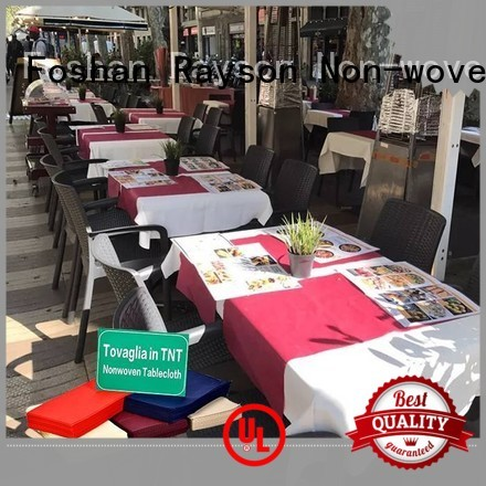 pp non woven fabric manufacturer 45gsm sgs printed table covers manufacture