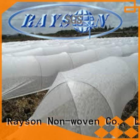 Rayson nonwoven,ruixin,enviro सफेद बड़े खेत के लिए परिदृश्य कपड़े का कारखाना